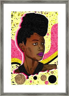 La Belle Tia Framed Print by Kenal Louis