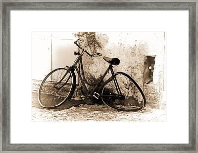 La Bicicletta Framed Print
