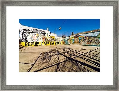La Boca Graffiti Framed Print by Jess Kraft