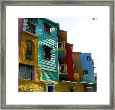 La Boca Framed Print