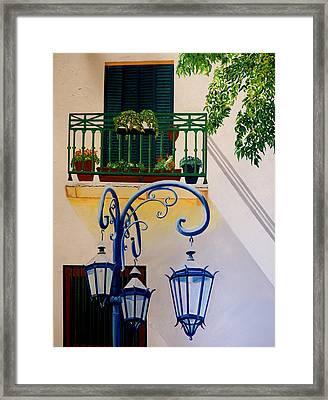 La Boca Shadows Framed Print