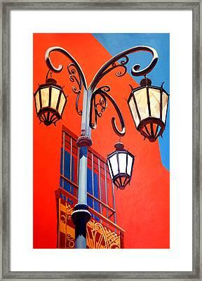 La Boca Street Lamps #21 Framed Print