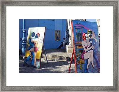 La Boca Blue Framed Print