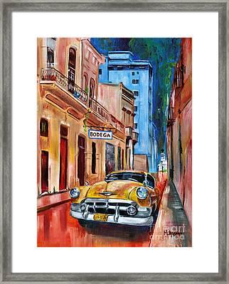 La Bodeguita Framed Print by Maria Arango