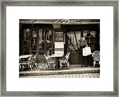 La Boheme Framed Print by John Rizzuto