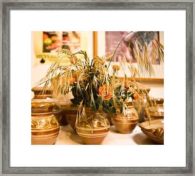 La Borne Pottery Framed Print by Oleg Koryagin