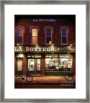 La Bottega Framed Print by Audrey Wilkie