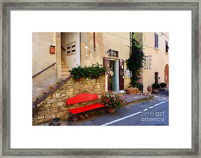 La Bottega  Small Typical Souvenir Shop In Tuscany  Framed Print by Ramona Matei