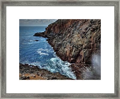 La Bufadora  001 Framed Print by Lance Vaughn
