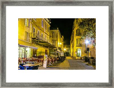 La Cafe Nuit Framed Print by Cathy Anderson