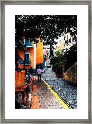 La Calle Framed Print by Simone Hester
