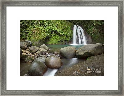 La Cascade Caribbean Framed Print