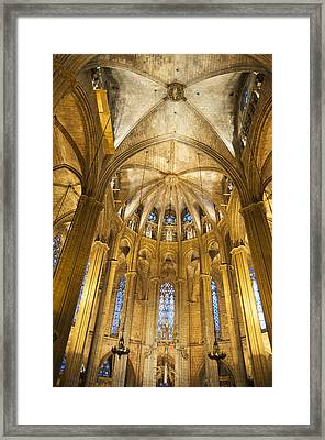 La Catedral Barcelona Cathedral Framed Print by Matthias Hauser
