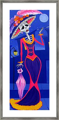 La Catrina Framed Print by Evangelina Portillo