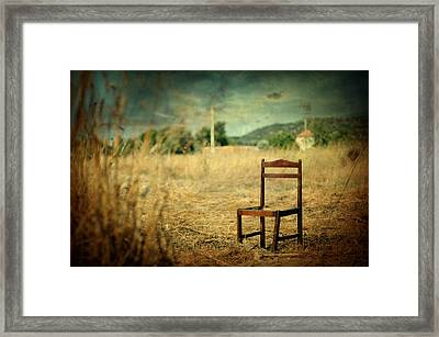 La Chaise Framed Print by Taylan Apukovska
