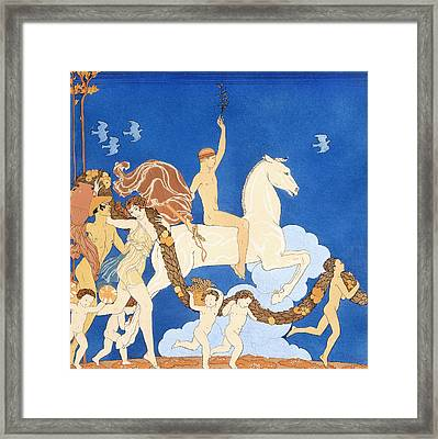 La Cheval Blanc Framed Print by Georges Barbier