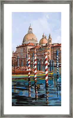 La Chiesa Della Salute Sul Canal Grande Framed Print by Guido Borelli