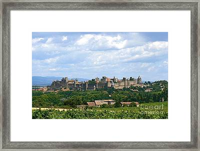 La Cite De Carcassonne Framed Print