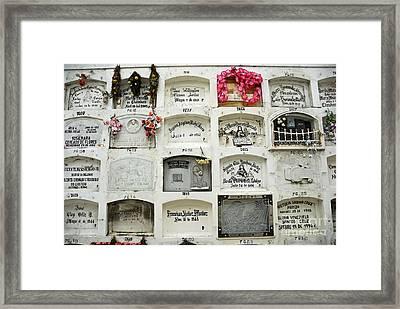 La Ciudad Blanca Cemetery Framed Print by Sami Sarkis