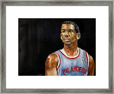 La Clippers' Chris Paul  Framed Print by Michael  Pattison
