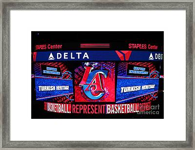 La Clippers Turkish Heritage Framed Print by RJ Aguilar
