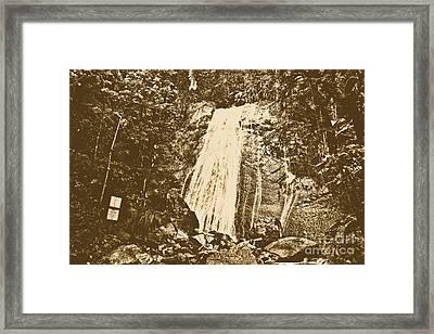La Coca Falls El Yunque National Rainforest Puerto Rico Print Rustic Framed Print by Shawn O'Brien