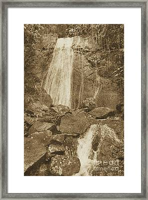 La Coca Falls El Yunque National Rainforest Puerto Rico Prints Vintage Framed Print