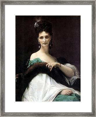 La Comtesse De Keller Framed Print by Alexandre Cabanel