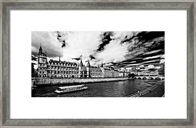 Framed Print featuring the photograph La Conciergerie / Paris by Barry O Carroll