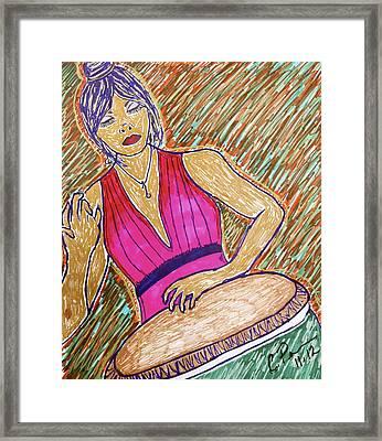 La Congera Framed Print by Chrissy  Pena
