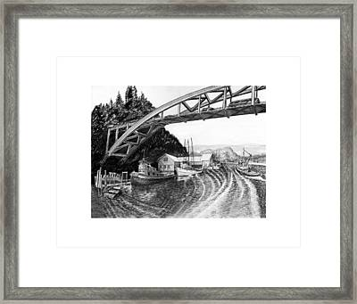 Rainbow Bridge La Connor Washington Framed Print