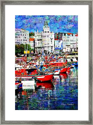 La Coruna Revisited Framed Print by Mary Machare
