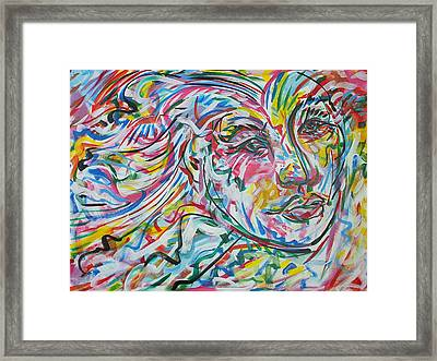 La Dama Longoria Framed Print