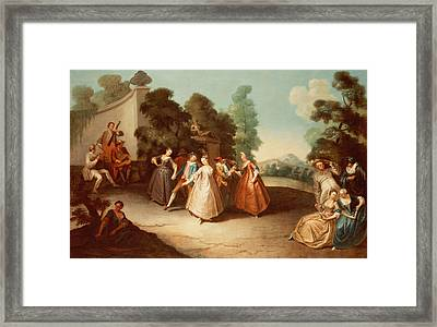 La Danse Framed Print by Philippe Mercier