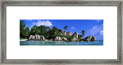 La Digue, Island, The Seychelles, Africa Framed Print