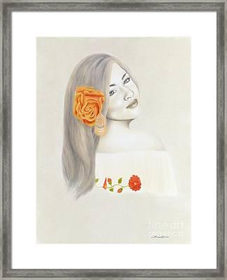 La Diva Framed Print by Lorena Rivera