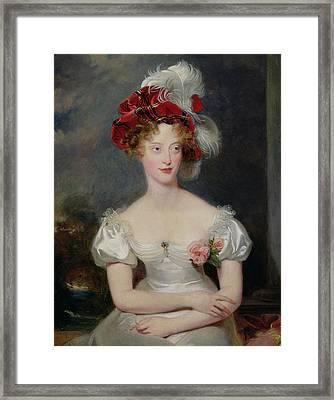 La Duchesse De Berry 1798-1870 C.1825 Oil On Canvas Framed Print