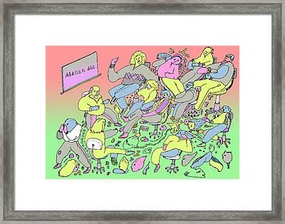 La Ensenianza Framed Print by Lino Divas
