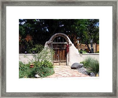 La Entrada A La Casa Vieja De Mesilla Framed Print by Kurt Van Wagner