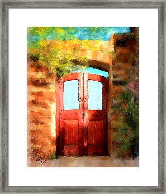The Scarlet Entrance Framed Print by Colleen Taylor