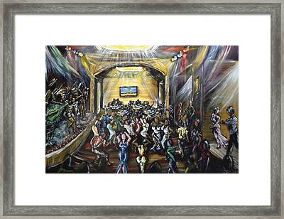 La Escena Del Baile Framed Print by Ka-Son Reeves
