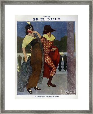 La Esfera 1910s Spain Cc Harlequins Framed Print by The Advertising Archives