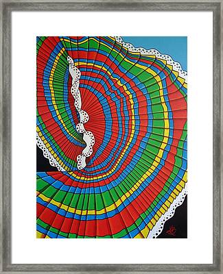 La Falda Girando - The Spinning Skirt Framed Print