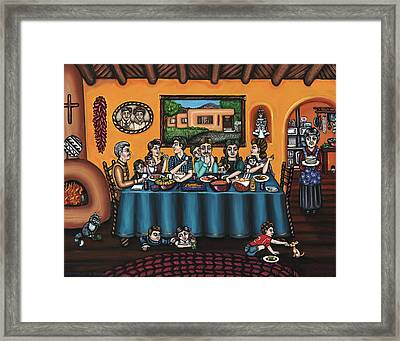 La Familia Or The Family Framed Print by Victoria De Almeida