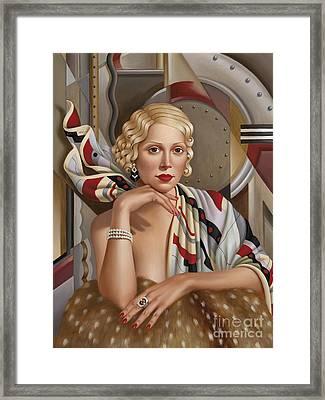 La Femmeen Soiehi  Framed Print