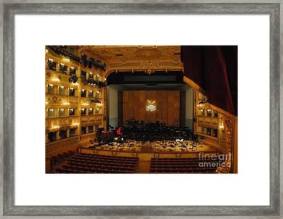 la Fenice Interior Framed Print by Jacqueline M Lewis