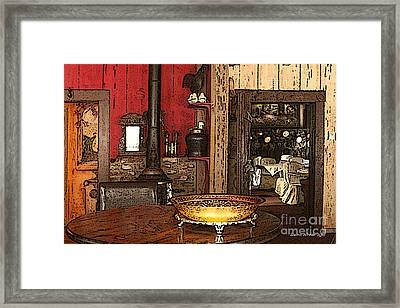 La Ferme Restaurant In Genoa Nevada Framed Print by Artist and Photographer Laura Wrede