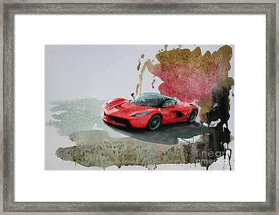 La Ferrari Framed Print