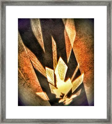 Framed Print featuring the photograph La Flamme Qui Enflamme Sans Bruler by Steven Huszar