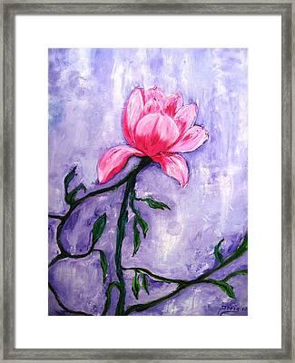 La Flor Framed Print